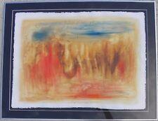 Raffaele ROSSI (Alba 1956) Paesaggio dell'anima mia 2009 affresco e T.M.cm 56x76