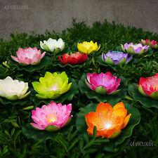 5pcs Artificial LED Light optic fibre Lotus Flower Lily Floating Fish Pond weddi