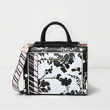 *BNWT*Stunning River Island Ladies Black and White Floral Bag