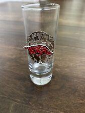 ARKANSAS RAZORBACK SHOT GLASS -