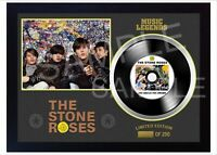 New The Stone Roses MUSIC  SIGNED FRAMED PHOTO Print and Mini LP Vinyl