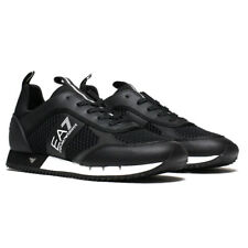 EMPORIO ARMANI EA7 MEN'S MESH RUNNERS TRAINERS - BLACK