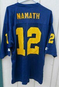 LOS ANGELES RAMS BLUE & GOLD  JOE NAMATH #12OLD SCHOO  FOOTBALL JERSEY SZ XLG(52