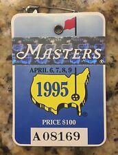 1995 MASTERS AUGUSTA NATIONAL GOLF CLUB BADGE TICKET BEN CRENSHAW WINS PGA