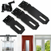 Heavy Duty Hasp and Staple Solid Security Lock Padlocks for Gate Shed Door Black