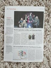 Nightwish 1 page newspaper article Abendzeitung Germany 2018 RARE