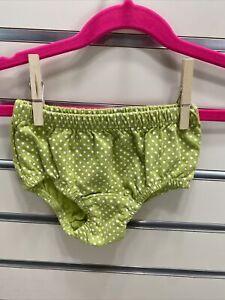 Baby Boden Girls 3-6M Green White Dot Print Bloomer Diaper Cover Pull Over
