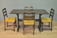 Attractive Large Vintage Ercol Oak Dining Kitchen Table & Four Matching Chairs