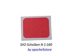 SH2-Scheiben Tafeln Schutzsignal N 16 Stück, selbstklebend, sehr filigran