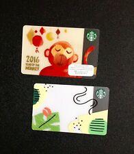 HONG KONG STARBUCKS GIFT CARD ----- LOT OF  2 PCS. ----- NEW