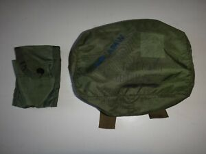 2 US Army Green OD Nylon Pouches Medical FIRST AID KIT General Purpose / Compass