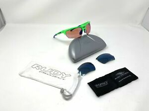 Rudy Project Glasses Noyz, Green Sp  04 - 18 Sunglasses 2 Sets Of Lenses Rare