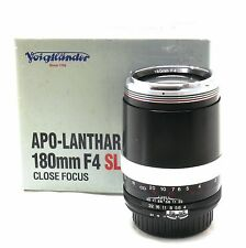 Voigtlander 180mm f/4 SL Apo Lanthar close focus lens Nikon AIS boxed MINT-