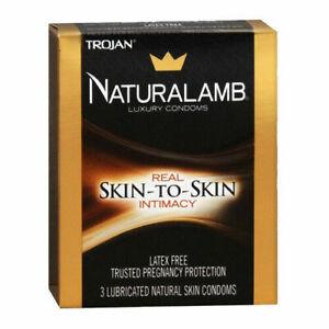 Naturalamb Natural Skin Condoms Lubricated 3 Each 11/2022