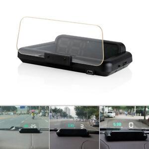 Auto OBD2 HUD Head-Up Display Digital Car Speed Projector Fuel Mileage Alarm New