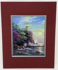 Thomas Kinkade Split Rock Light Lighthouse Matted Collector's Print 11x14