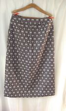 Vintage Ladies Welsh Tapestry Wool Long Skirt Hand Made Brown & White Design 14