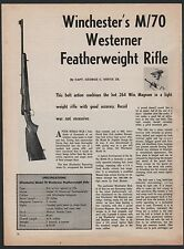 1962 WINCHESTER Model 70 Westerner Featherweight Rifle 3-pg Article