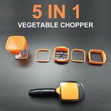5 IN 1 Vegetable Fruit Slicer Tool Cutter Chopper Dicer Salad Food Quick Nicer
