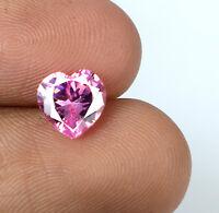 Ceylon Pink Sapphire Loose Gemstone Natural 2.20 Ct Heart Shape AGSL Certified