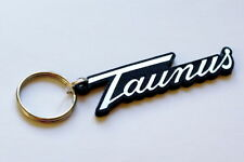 Ford Taunus Keyring - Brushed Chrome Effect Classic Car Keytag / Keyfob