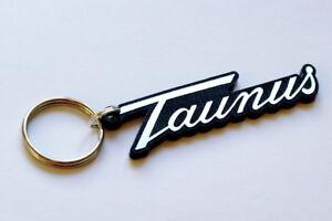 Ford Taunus Keyring - Brushed Chrome Effect Classic Car Keytag / Keyfob
