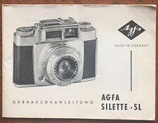 AGFA Silette SL  - Anleitung von 08.57