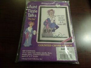 Stoney Creek Collection Cross Stitch Aunt Tizzie Talks Any Day #4179
