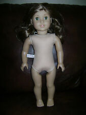 "AMERICAN GIRL DOLL 18"" HISTORICAL REBECCA Nude Brown Hair Green Eyes"