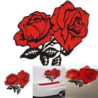 3Pcs flower Sticker Car Bumper Van Window Laptop Decals Car Stickers DIY #C5X