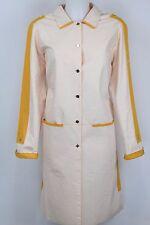 NWT Fendi 365 - Ivory / Yellow Jacket Long Coat - Size 40 / 6