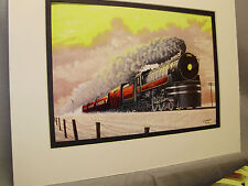 Canadian Pacific RR Jubilee Passenger Steam Loco Art Railroad Archives we