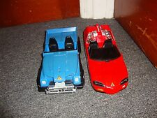 Power Ranger Turbo Deluxe Red Lighting Cruiser and Blue Car