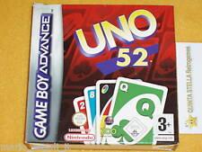 UNO 52 Game Boy Advance GBA DS ITA EUR NUOVO NEW TOP 1