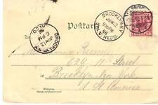 GERMAN 1896 GRUSS AUS HANNOVER P.C. TO BROOKLYN, N.Y