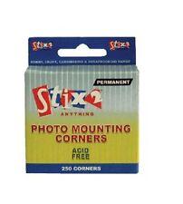 250 Coins de montage photo sans acide Permanent S57072 Adhésif Album Scrapbook