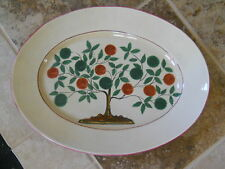 LARGE ITALIAN POTTERY OVAL DISH 18 1/2 INCHES LONG BY 14 INCHES TALL