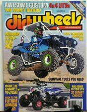 Dirt Wheels Aug 2016 Custom 4x4 UTVs Honda 450R Survival Tools FREE SHIPPING sb