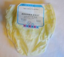 NOS Vtg Dorsey Baby Yellow Plastic/Rubber-Pants/Panties Ruffle rhumba Diaper
