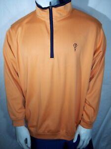 Zero Restriction Tour Series XL Orange 1/4 Zip Golf Rain Pullover 1st Tee Logo