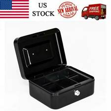 Fire Proof Security Stainless Steel Small Safe Box Money Cash Document Lock New@