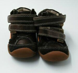 Pediped Grip N Go Brown And Orange Sneakers Size 5 US 20 EU - Hook and Loop