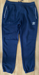 Mens. ADIDAS Navy Blue Joggers/Jog Bottom Sports Activewear. Size Large. Faulty!