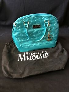 Loungefly The Little Mermaid Bowler Bag With Bag Protector