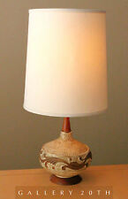 MID CENTURY DANISH MODERN TEAK TABLE LAMP! EAMES 50'S 60S VTG RAYMOR LIGHT RETRO