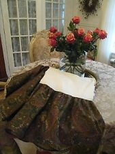 Ralph Lauren Rue Des Artistes Paisley Queen Bed Skirt W / Split Corners