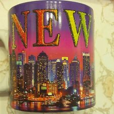 I LOVE NY JUMBO MUG NEW YORK NIGHT SKY LINE SOUVENIR COFFEE PENCIL HOLDER