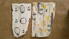 Two Fitted Crib/Toddler Bed Sheets Woodland Penguin 100% Organic Jersey Cotton