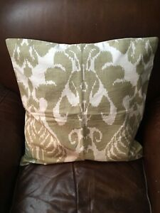 """Williams Sonoma Silk Ikat Medallion 20"""" Pillow Cover, Taupe"""