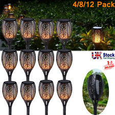 More details for 4/8/12pcs solar torch light waterproof flame flickering dancing path garden lamp